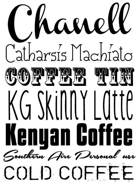 coffee fonts