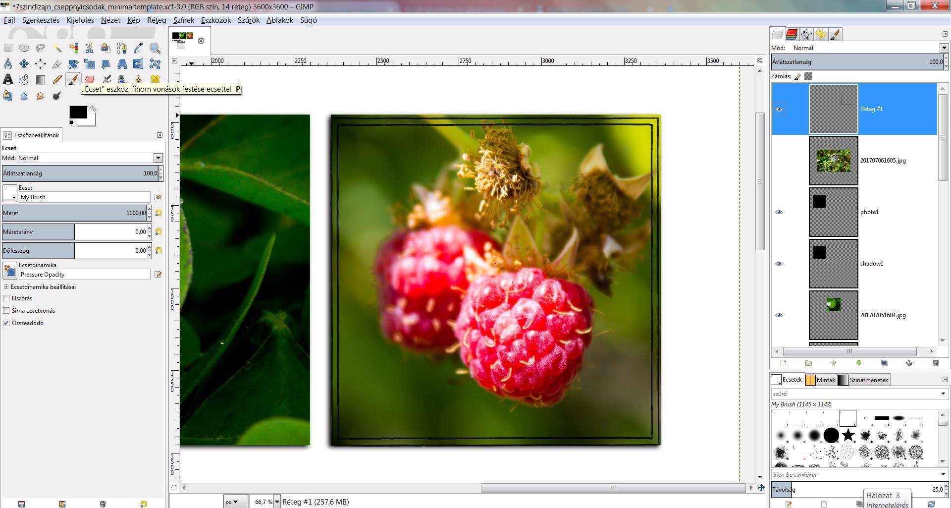 """Brush készítése és alkalmazása, fotók sablonra """"szabása"""" GIMP-pel"""