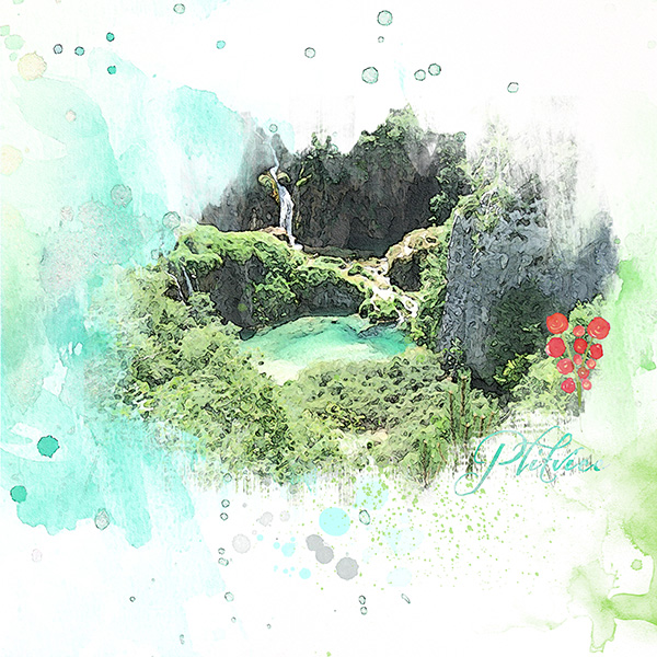 wPlitvice-akvarell