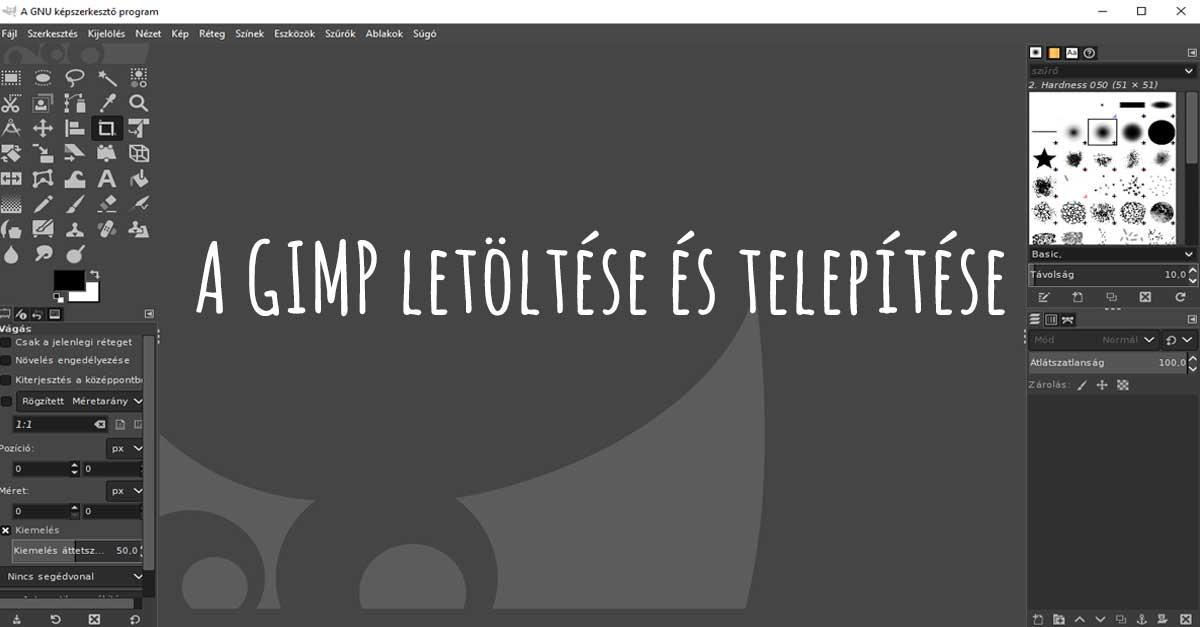 A GIMP letöltése és telepítése